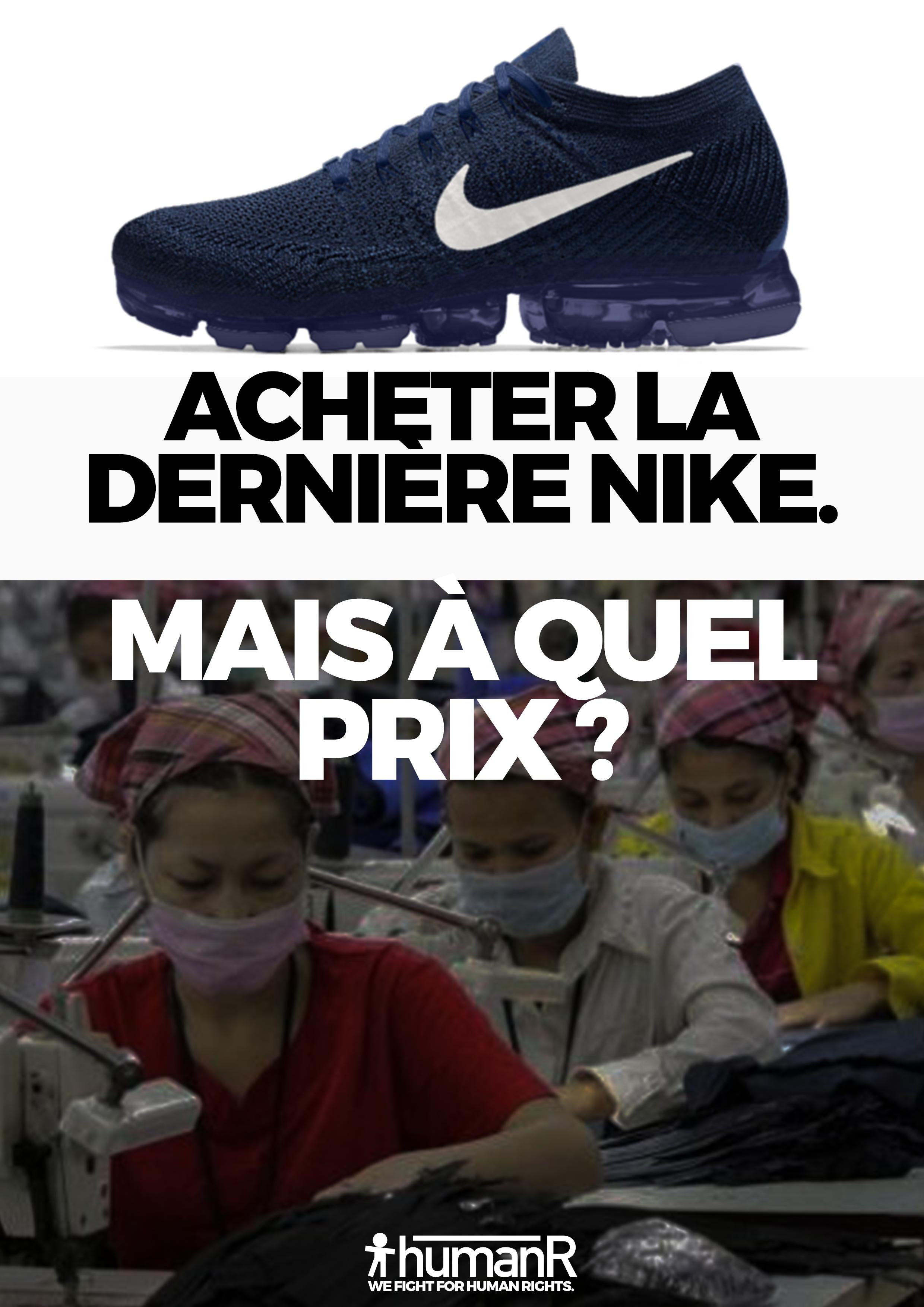 Poster denouncing Nike